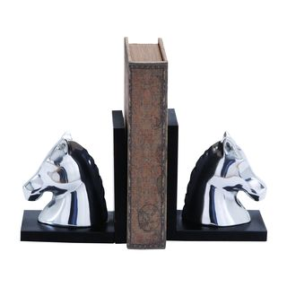 Swanky Contemporary Style 7-inch Aluminum Horse Bookend - Thumbnail 0