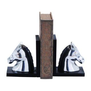 Strick & Bolton Simon Contemporary Style 7-inch Aluminum Horse Bookend