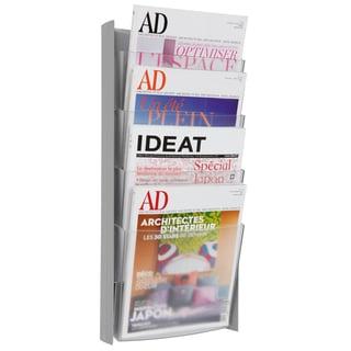 Alba Grey 4-pocket Wall Document Display