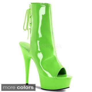 Pleaser Women's 'Delight-1018UV' Neon Ankle Booties