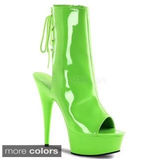 Pleaser Women's 'Delight-1018UV' Neon Ankle Booties