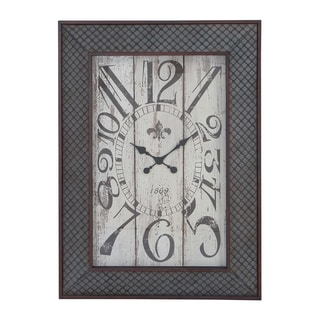 Metal/ Wood Mesh Pattern Wall Clock
