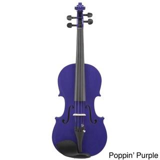 Le'Var 4/4 Student Violin (Option: Poppin' Purple)