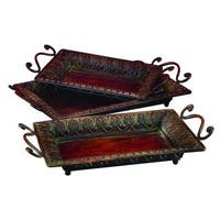 The Curated Nomad Castenada Set of 3 Metal Decorative Trays