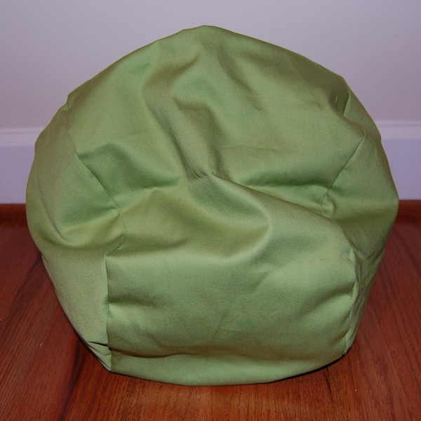 Ahh Products Lil' Me Doll 14-inch Organic Cotton Lime Bean Bag Chair