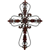Copper Grove Chatfield Metal Floral Cross Wall Decoration