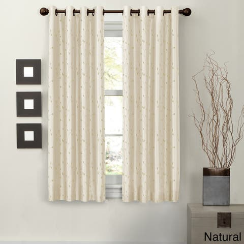 Maytex Jardin Faux Embroidered 63-inch Blackout Curtain Panel - 54 x 63 - 54 x 63