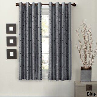 Maytex Jardin Faux Embroidered 63-inch Blackout Curtain Panel - 54 x 63 (4 options available)