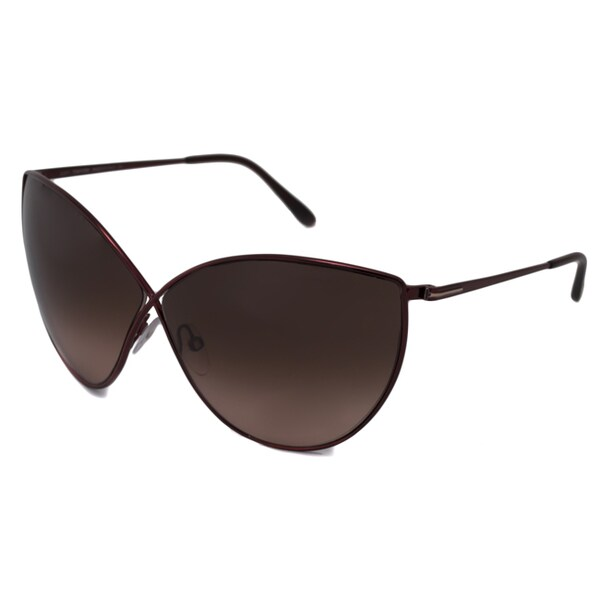 159ef6f0ca Shop Tom Ford Women s Burgundy TF0251 Evelyn Cat-Eye Sunglasses ...