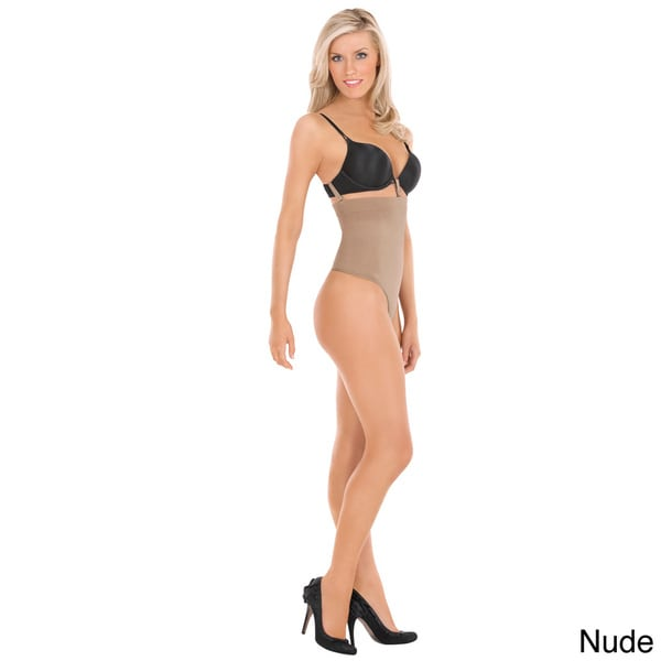 19c4c7fd8 Shop Julie France by Euroskins Body Shapers Leger Ultra Firm Control  High-waist Thong Shaper - Free Shipping On Orders Over  45 - Overstock -  8631696