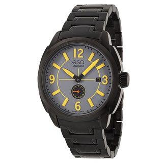 ESQ by Movado Men's 'Excel' Black Stainless Steel Swiss Quartz Watch