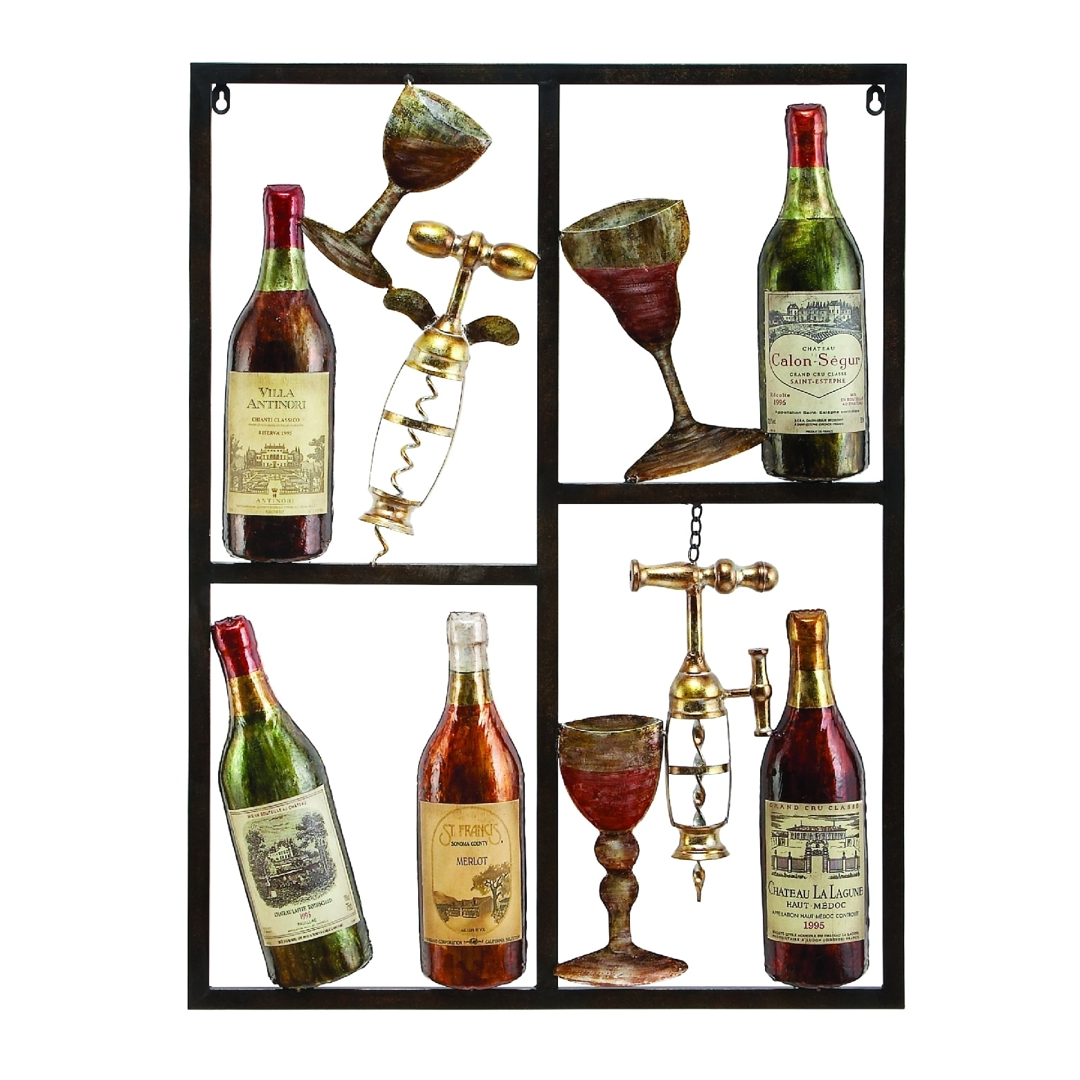 Metal Wine Decor