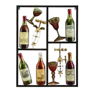 Metal Wine Decor - Thumbnail 0