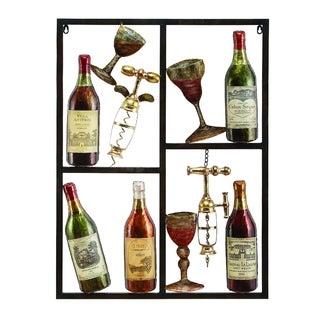 Gracewood Hollow Yamashiro Metal Wine Decor