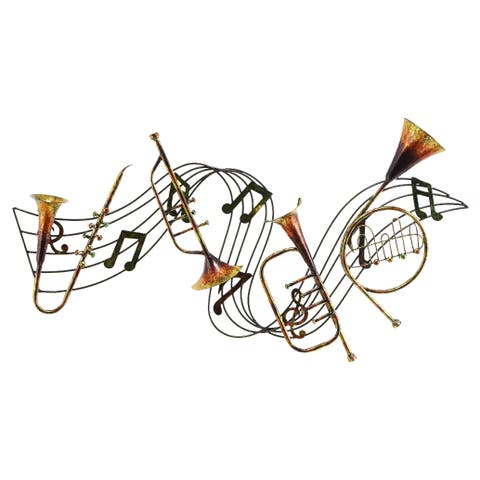 Eclectic 22 x 39 Inch Instruments and Note Wall Decor by Studio 350