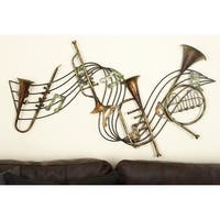 Studio 350 Metal Musical Instrument Decor 39 inches wide, 22 inches