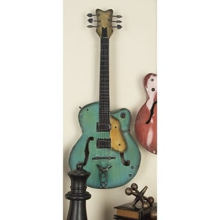 Two Assorted Metal Guitar Wall Decor