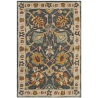 Safavieh Handmade Classic Dark Grey/ Ivory Wool Rug - 2' x 3'