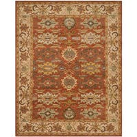 Safavieh Handmade Heritage Timeless Traditional Rust/ Beige Wool Rug - 9' x 12'