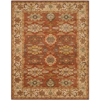 Safavieh Handmade Heritage Timeless Traditional Rust/ Beige Wool Rug - 9' x 12'
