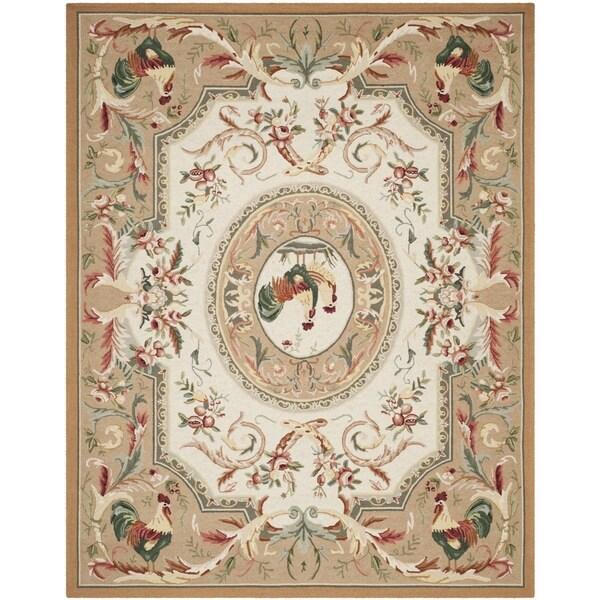 Safavieh Hand-hooked Chelsea Taupe Wool Rug - 8'9 X 11'9