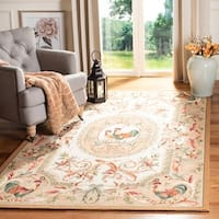 Safavieh Hand-hooked Chelsea Taupe Wool Rug - 7'9 x 9'9