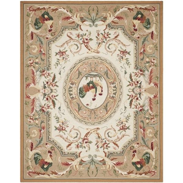 Safavieh Hand-hooked Chelsea Taupe Wool Rug - 7'9 x 9'9