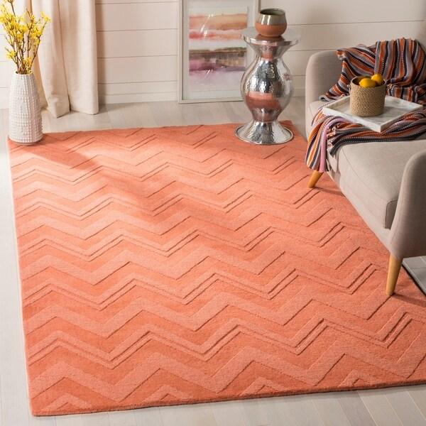 Safavieh Handmade Impressions Peach Wool Rug - 7'6 x 9'6