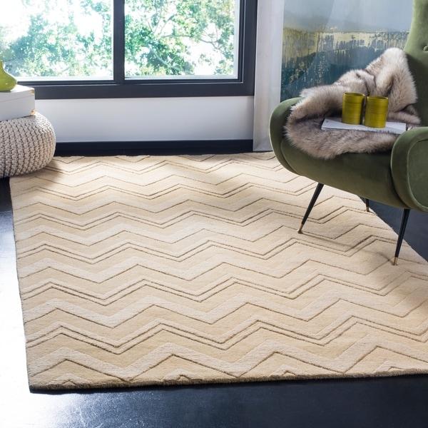 "Safavieh Handmade Impressions Dark Gold Wool Rug - 7'6"" x 9'6"""
