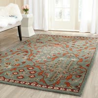Safavieh Handmade Wyndham Blue/ Rust Wool Rug - 4' x 6'