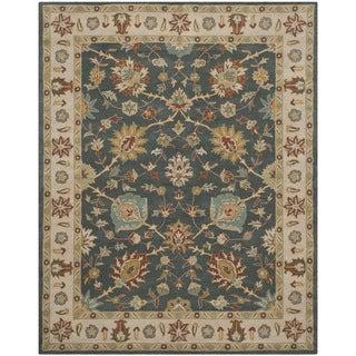 Safavieh Handmade Classic Dark Grey/ Ivory Wool Rug (8' x 10')
