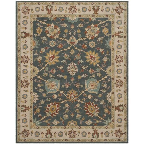 Safavieh Handmade Classic Dark Grey/ Ivory Wool Rug - 8' x 10'