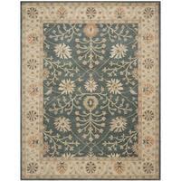 Safavieh Handmade Classic Blue/ Light Gold Wool Rug - 8' x 10'