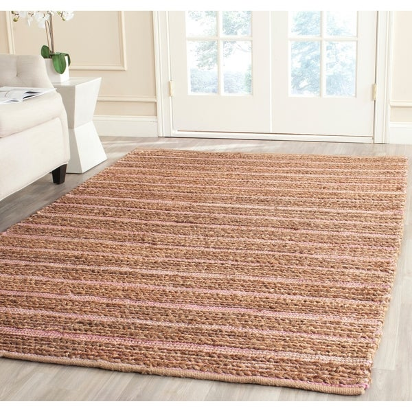 Safavieh Cape Cod Handmade Light Pink Jute Natural Fiber Rug - 8' x 10'