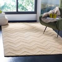 Safavieh Handmade Impressions Dark Gold Wool Rug - 5' x 8'