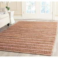 Safavieh Cape Cod Handmade Light Pink Jute Natural Fiber Rug - 4' x 6'