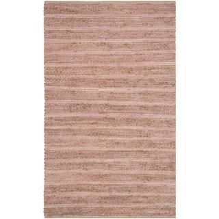 Safavieh Cape Cod Handmade Light Pink Jute Natural Fiber Rug (3' x 5')