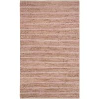 Safavieh Cape Cod Handmade Light Pink Jute Natural Fiber Rug - 3' x 5'