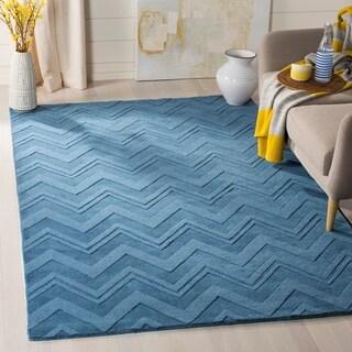 Safavieh Handmade Impressions Blue Wool Rug (4' x 6')