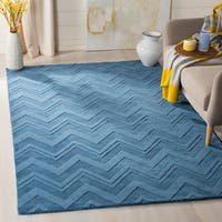 Safavieh Handmade Impressions Blue Wool Rug - 4' x 6'