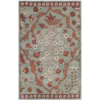 Safavieh Handmade Wyndham Blue/ Rust Wool Rug (2'6 x 4')