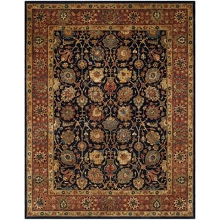 Safavieh Handmade Persian Legend Navy/ Rust Wool Rug (6' x 9')
