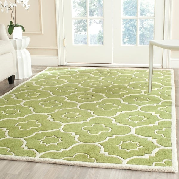 Shop Safavieh Handmade Moroccan Chatham Green Ivory Wool
