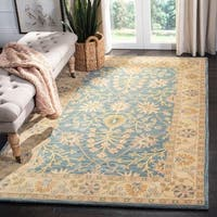 Safavieh Handmade Classic Blue/ Light Gold Wool Rug - 2'3 x 8'