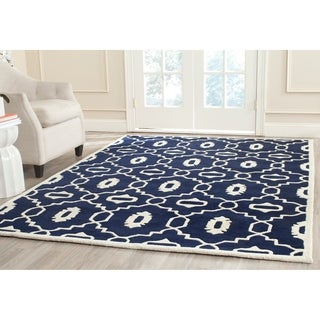 Safavieh Handmade Moroccan Chatham Dark Blue/ Ivory Wool Rug (8' x 10')