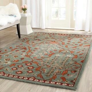 Safavieh Handmade Wyndham Blue/ Rust Wool Rug (7' Square)