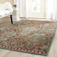 Safavieh Handmade Wyndham Blue/ Rust Wool Rug - 7' x 7' Square
