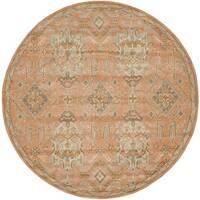 Safavieh Handmade Wyndham Terracotta Wool Rug - 7' x 7' Round