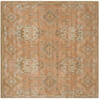 Safavieh Handmade Wyndham Terracotta Wool Rug - 7' Square