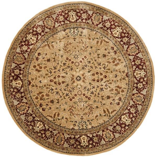 Safavieh Handmade Persian Legend Ivory/ Red New Zealand Wool Rug (8' Round)